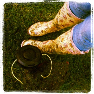 Wellies and Strimming