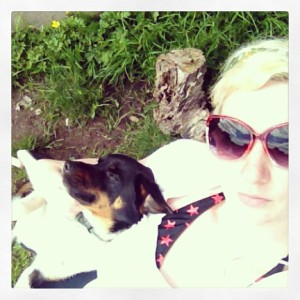Sunbathing with Lester!